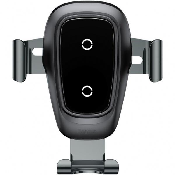 Baseus Metal Wireless Charger Gravity Car Mount Чёрный WXYL-B0A