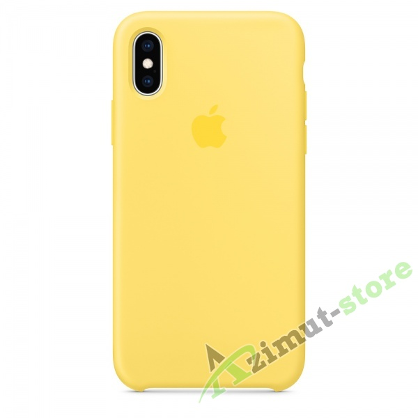 Apple Silicone Case iPhone Х/XS Canary (Канареечный)