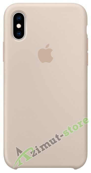 Apple Silicone Case iPhone X/XS Stone (Бежевый)