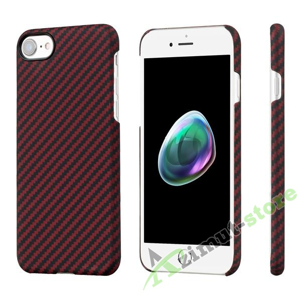 Чехол Pitaka Aramid Case для iPhone 7/8 Black/Red Twill