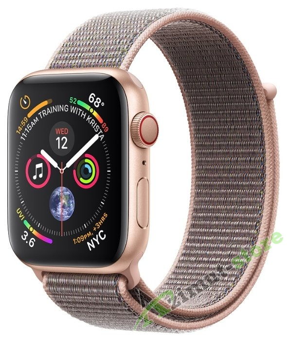 Apple Watch Series 4 GPS + Cellular 40mm Aluminum Case with Sport Loop Золото/Розовый