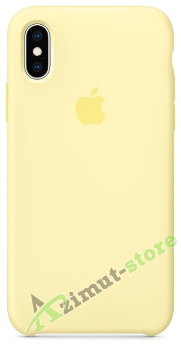 Apple Silicone Case iPhone X/XS  Lemon Cream «Лимонный крем »