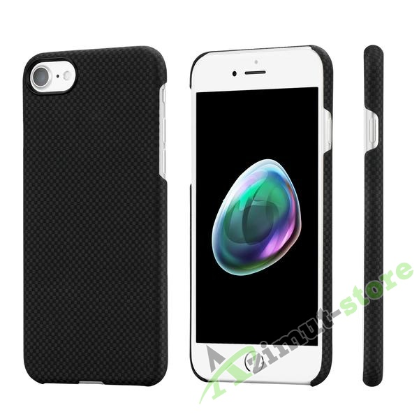 Чехол Pitaka Aramid Case для iPhone 7/8 Black/Grey plain