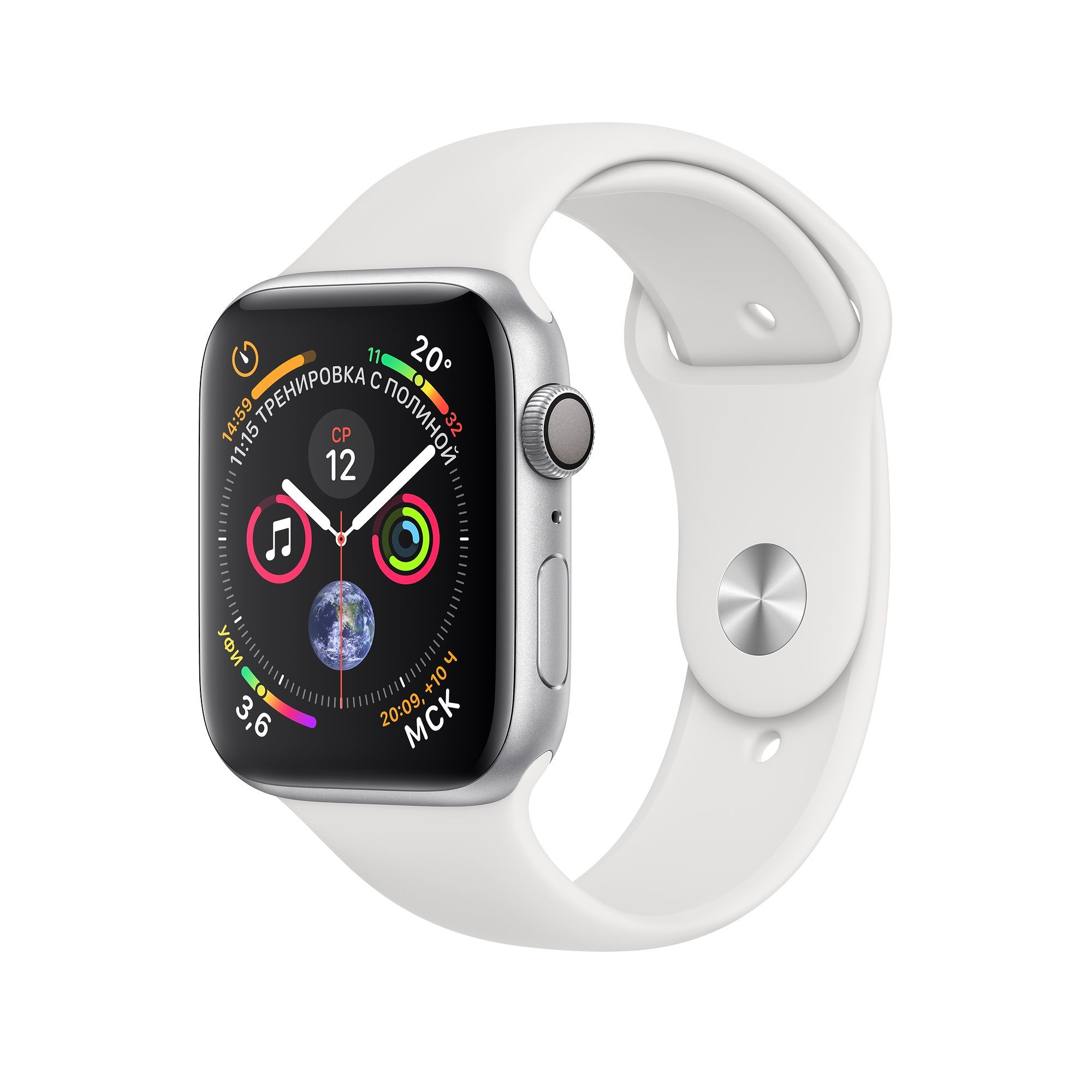 Apple Watch Series 4 GPS 40mm Aluminum Case with Sport Band Серебристый/Белый