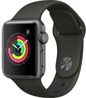 Apple Watch Series 3 38mm Aluminum Case with Sport Band (Space Gray / Gray) — умные часы
