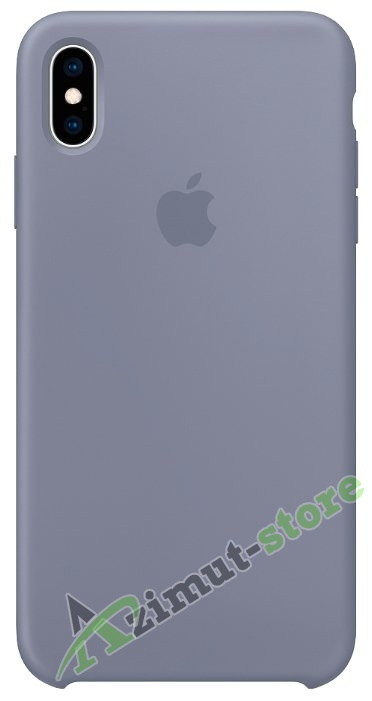 Apple Silicone Case iPhone X/XS Dark Lavender «Темная лаванда»