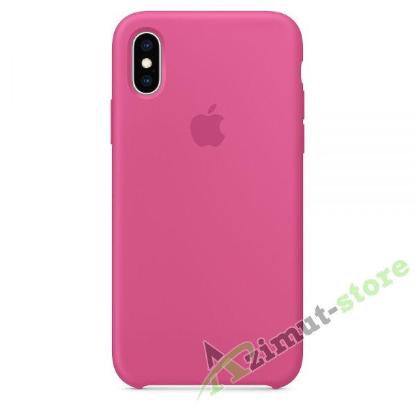 Apple Silicone Case iPhone Х/XS Dark Fuchsia (Темная фукция)