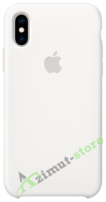 Apple Silicone Case iPhone X/XS White (Белый)