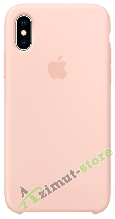 Apple Silicone Case iPhone X/XS Pink Sand «Розовый песок»