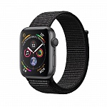 Apple Watch Series 4 GPS 40mm Aluminum Case with Sport Loop Black Серый космос/Черный