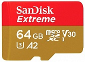 SanDisk Extreme microSDXC Class 10 UHS Class 3 V30 A2 160MB/s 64GB + SD adapter