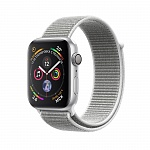Apple Watch Series 4 GPS 44mm Aluminum Case with Sport Loop Серый Серебристый/Белый