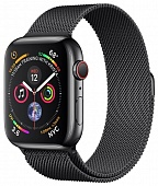 Apple Watch Series 4 GPS + Cellular 44mm Space Black Stainless Steel Case with Space Black Milanese Loop (Серый космос)