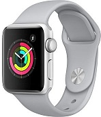 Apple Watch Series 3 38mm Aluminum Case with Sport Band (Silver / Fog) — умные часы