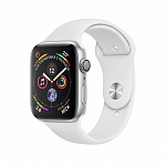 Apple Watch Series 4 GPS 44mm Aluminum Case with Sport Band Серебристый/Белый