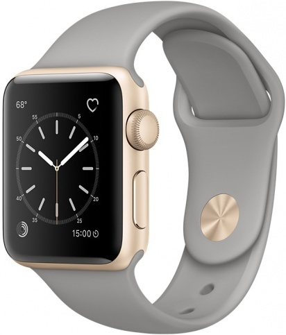 Apple Watch Series 2 42mm Gold Aluminum Case with Concrete Sport Band