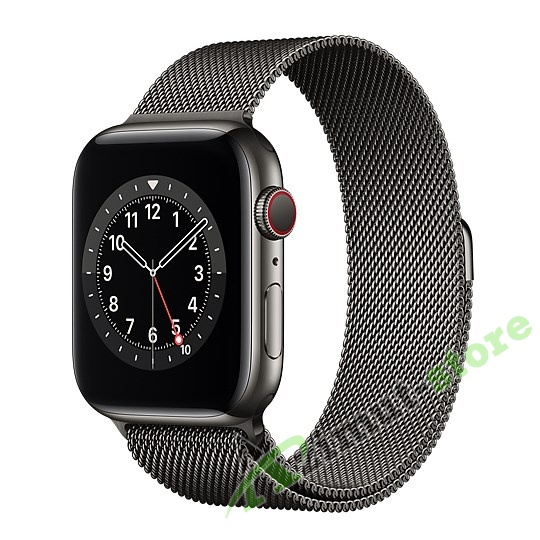 Apple Watch Series 6 GPS + Cellular 44mm Graphite Stainless Steel Case with Graphite Milanese Loop