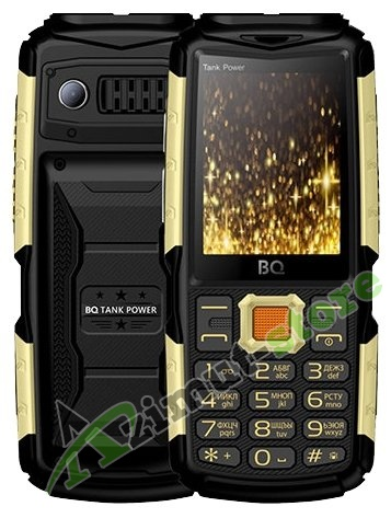 Мобильный телефон BQ Mobile BQ-2430 Tank Power Black/Gold RU/A