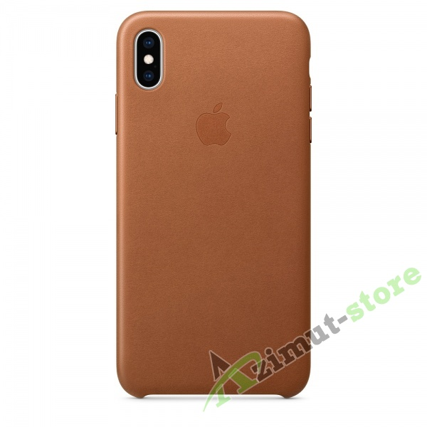 Apple Leather Case iPhone XS MAX Saddle Brown (Золотисто-коричневый)