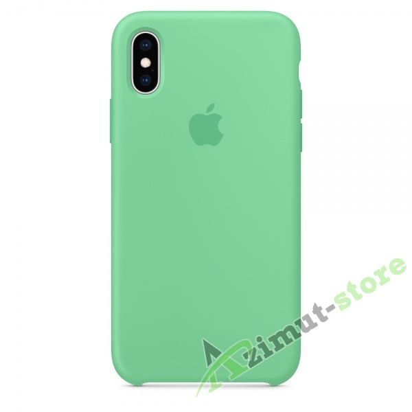 Apple Silicone Case iPhone X/XS Gentle Mint «Нежная мята»