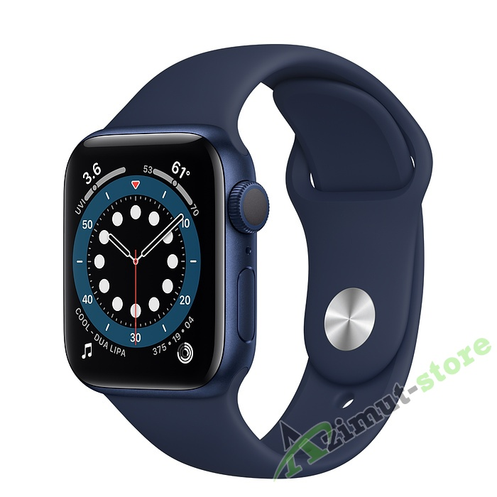 Apple Watch Series 6 40mm Blue Aluminum Case with Deep Navy Sport Band