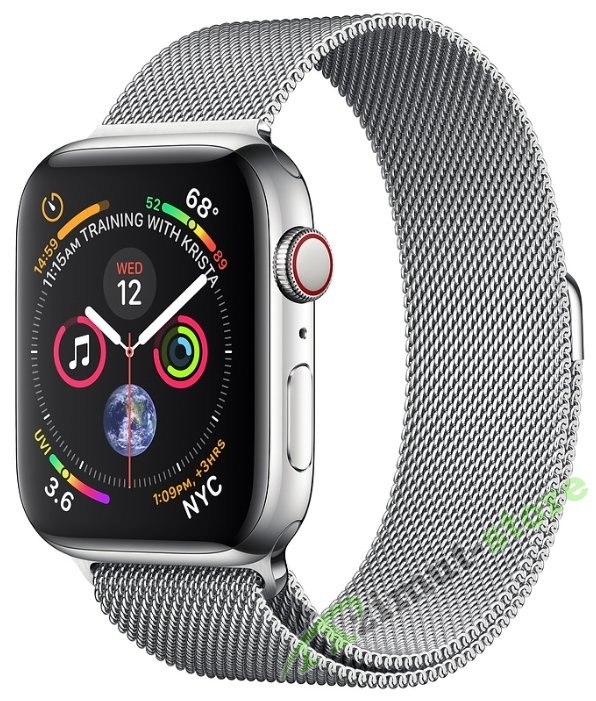 Apple Watch Series 4 GPS + Cellular 44mm Stainless Steel Case with Milanese Loop (Серебристый)
