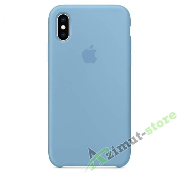 Apple Silicone Case iPhone Х/XS Blue Twilight (Синие сумерки)