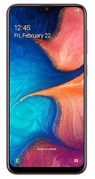 Samsung Galaxy A20 32GB SM-A205 Red (Красный) RU/A