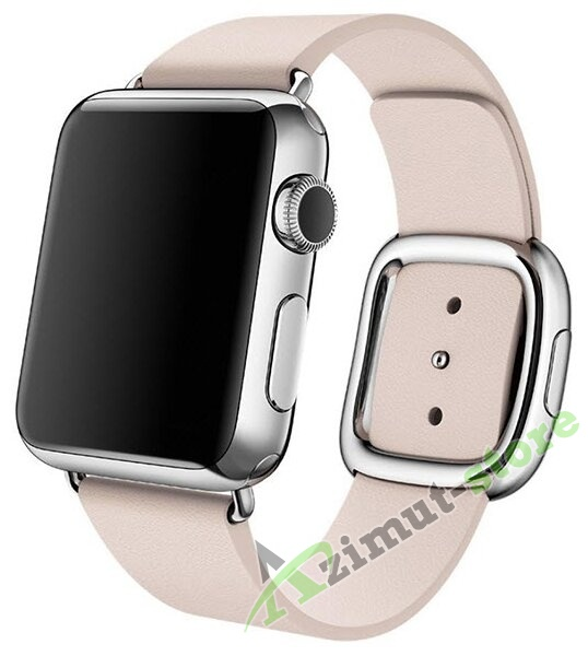 Leather Modern Buckle Soft Pink (Розовый) for Apple Watch (Series 1/2/3/4) 42mm/44mm