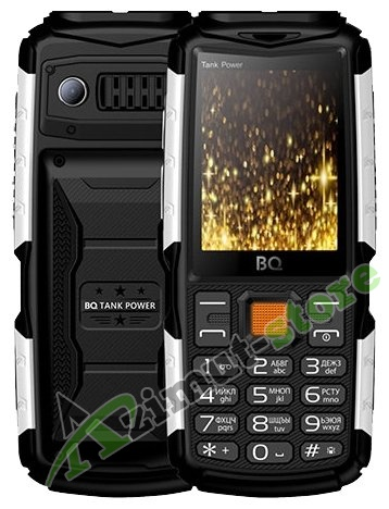 Мобильный телефон BQ Mobile BQ-2430 Tank Power Black/Silver RU/A