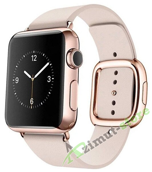 Leather Modern Buckle Rose Pink (Розовый) for Apple Watch (Series 1/2/3/4) 42mm/44mm