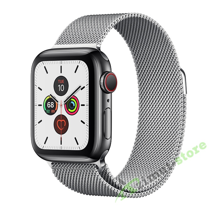 Apple Watch Series 5 GPS + Cellular 44mm Stainless Steel Case with Milanese Loop Черный космос/Серебристый