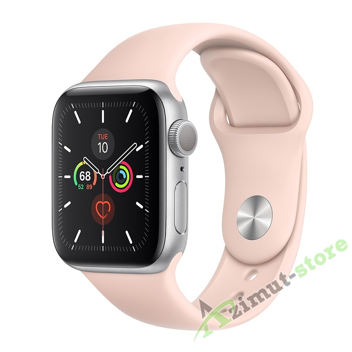 Apple Watch Series 5 GPS 40mm Aluminum Case with Sport Band Серебристый/Розовый песок
