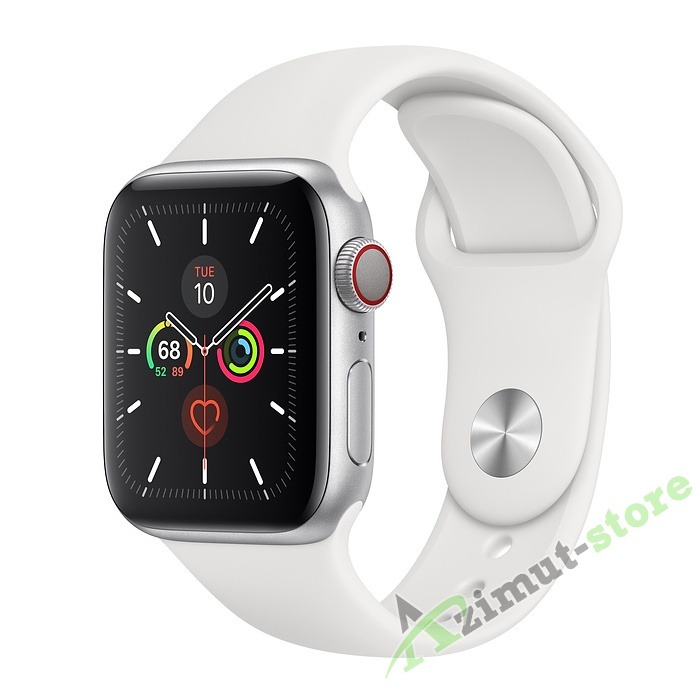 Apple Watch Series 5 GPS + Cellular 40mm Aluminum Case with Sport Band Серебристый/Белый