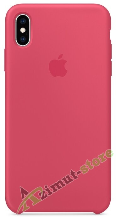 Apple Silicone Case iPhone X/XS Red Hibiscus «Красный каркаде»