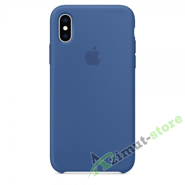 Apple Silicone Case iPhone Х/XS Dutch Вlue (Голландский синий)