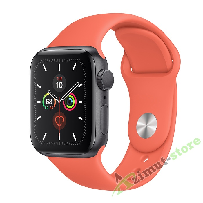 Apple Watch Series 5 GPS 40mm Aluminum Case with Sport Band Серый космос/Спелый клементин