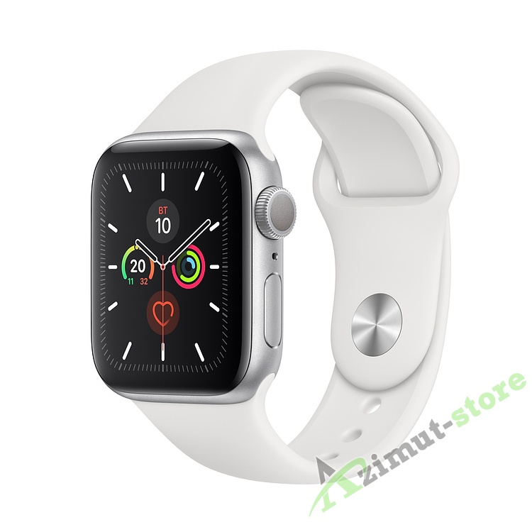 Apple Watch Series 5 GPS 40mm Aluminum Case with Sport Band Серебристый/Белый