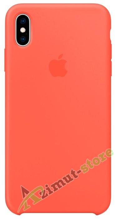 картинка Apple Silicone Case iPhone X/XS Nectarine «Нектарин» от магазина Azimut-store