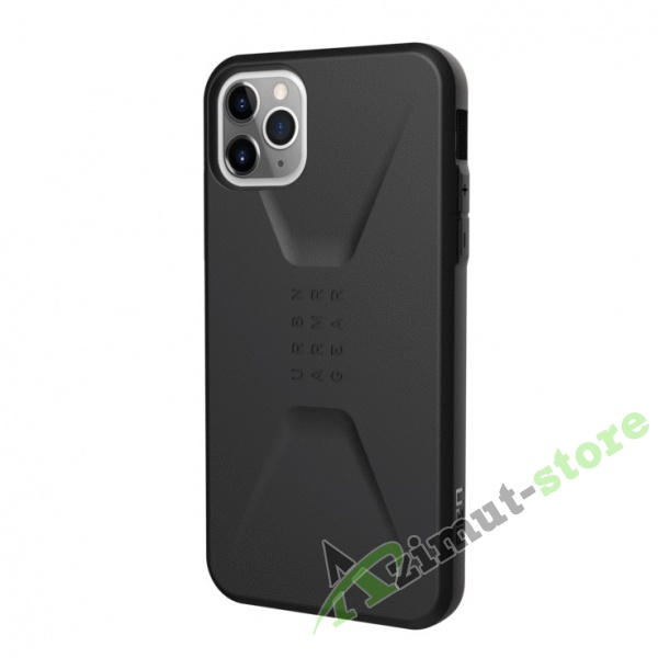 Чехол UAG Civilian Series для iPhone 11 Pro Max Black (Черный)