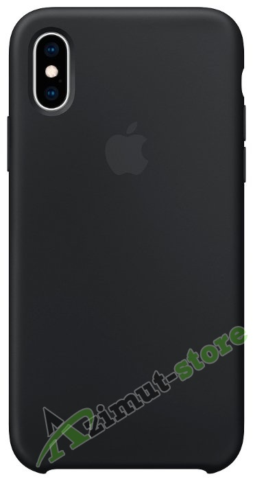 Apple Silicone Case iPhone Х/XS Black (Чёрный)