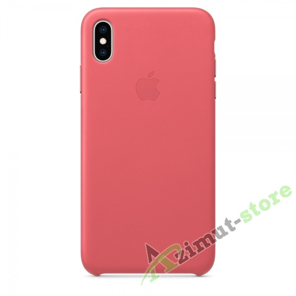 Apple Leather Case iPhone XS MAX Peony Sand «Розовый пион»