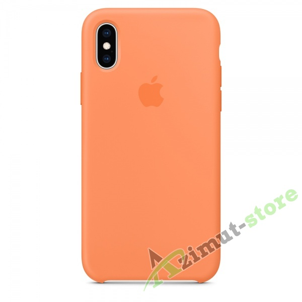 Apple Silicone Case iPhone Х/XS Fresh Papaya (Свежая папайя)