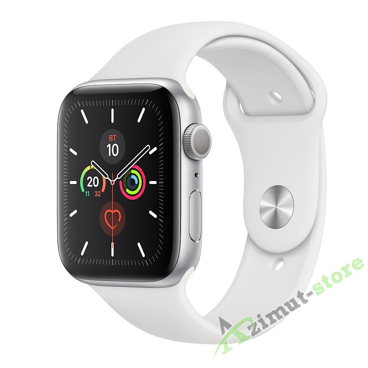 Apple Watch Series 5 GPS 44mm Aluminum Case with Sport Band Серебристый/Белый