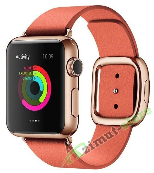 Leather Modern Buckle Rose Red (Розовый) for Apple Watch (Series 1/2/3/4) 42mm/44mm