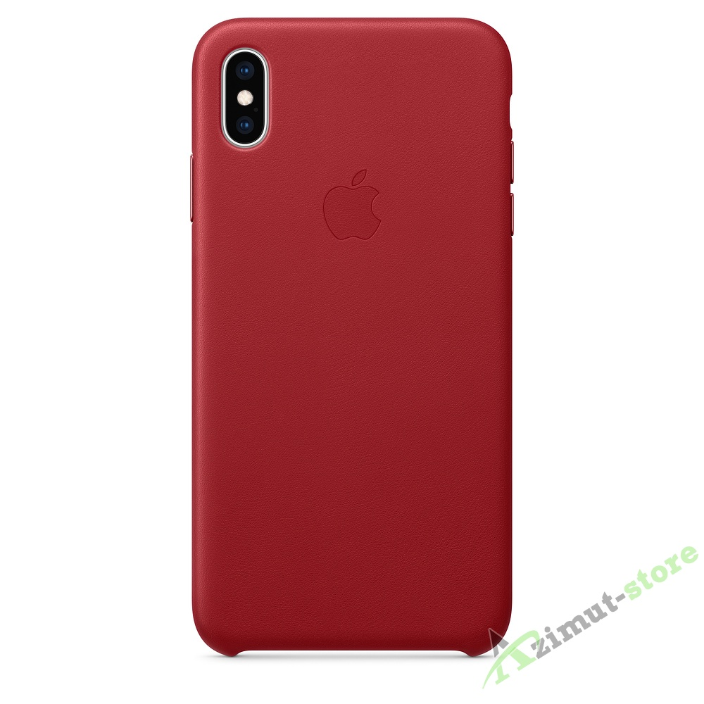 Apple Leather Case iPhone XS MAX Product Red (Красный)