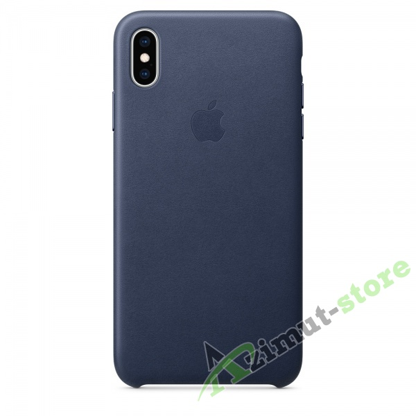 Apple Leather Case iPhone XS MAX Midnight Blue (Тёмно-синий)