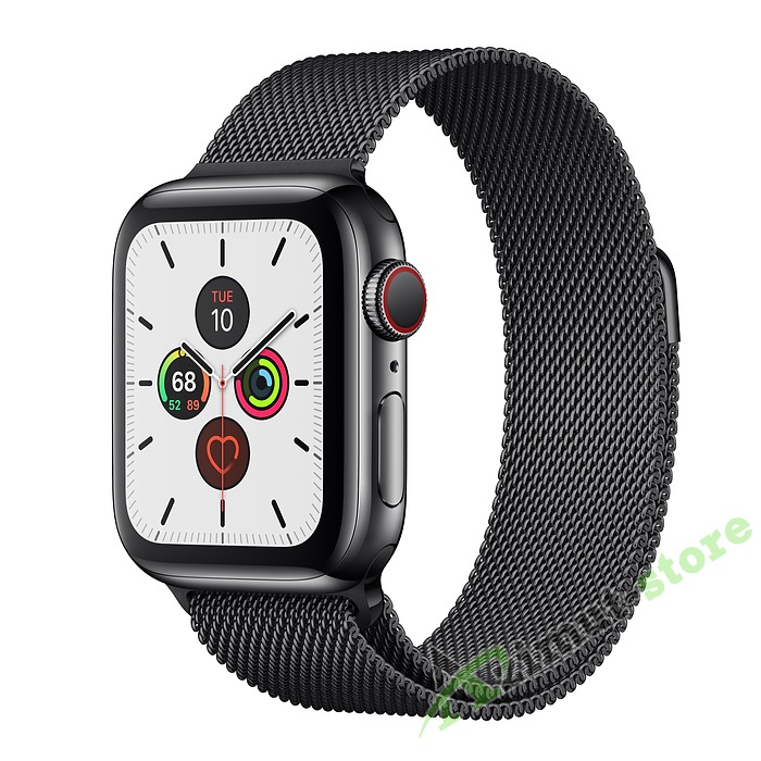 Apple Watch Series 5 GPS + Cellular 40mm Graphite Stainless Steel Case with Graphite Milanese Loop
