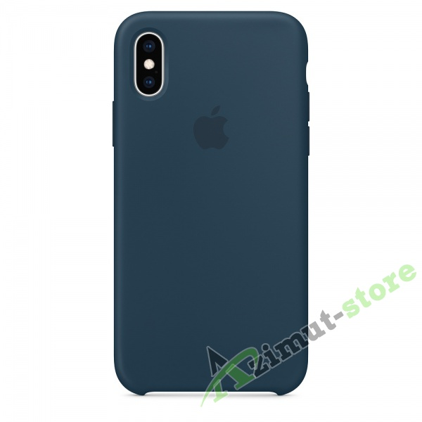 Apple Silicone Case iPhone Х/XS Pacific Ocean (тихий океан)