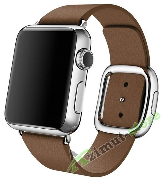 Leather Modern Buckle Brown (Коричневый) for Apple Watch (Series 1/2/3/4) 42mm/44mm